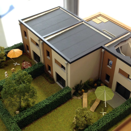 Maquette maison cube