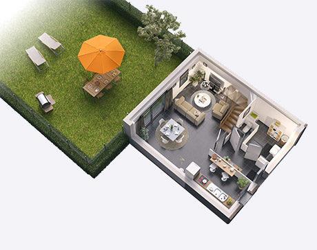 RDC maison Cube